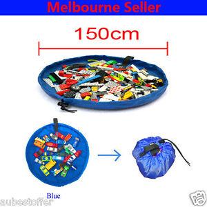 Blue-Kids-Play-Mat-Bag-Portable-Toy-Storage-Organizer-XL-150cm-Lego-Toys-BrikBag