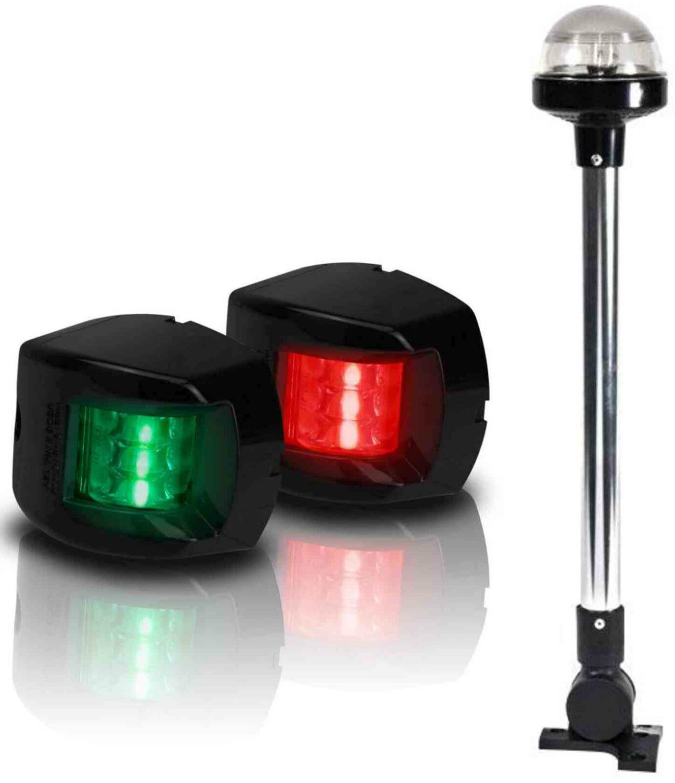 12 Volt Marine Lights: BOAT LED NAVIGATION LIGHTS KIT 3 Nav Light Package Port