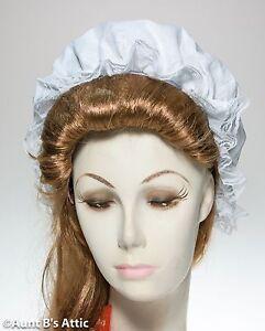 Mob Cap 18th Century Colonial Era Ladies White Ruffled Dust Cap ... db7ee82bf8b