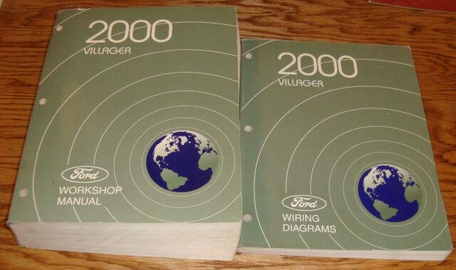 Original 2000 Mercury Villager Shop Service Manual Wiring