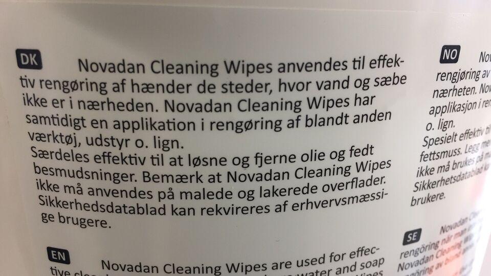Cleaning wipes, Novadan