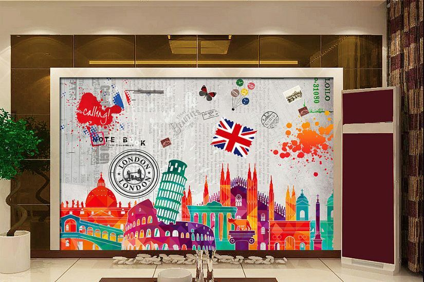 3D Uk World Cities 468 Paper Wall Print Decal Wall Wall Murals AJ WALLPAPER GB