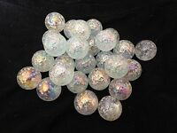 HOM Glass Marbles 22mm Snowflake Collectors or traditional game solitair
