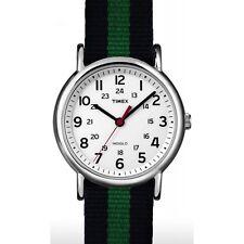 Timex Orologio Indiglo Cinturino Tessuto Colorato Luce ABT746 Verde Blu Blue New