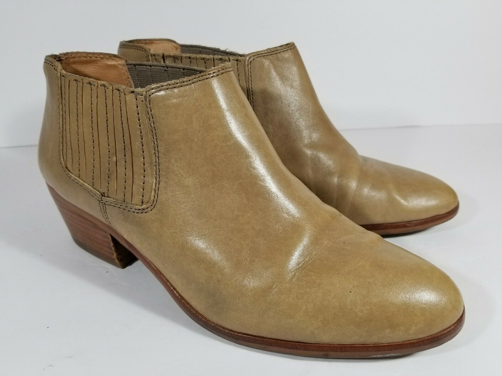 Madewell The Spencer Chelsea Pull On Boots Leather shoes C1375 Ankle Size 9