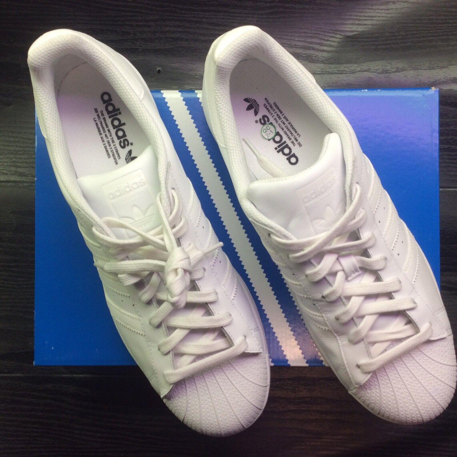 Adidas Superstar triple white US 12 worn twice includes Box