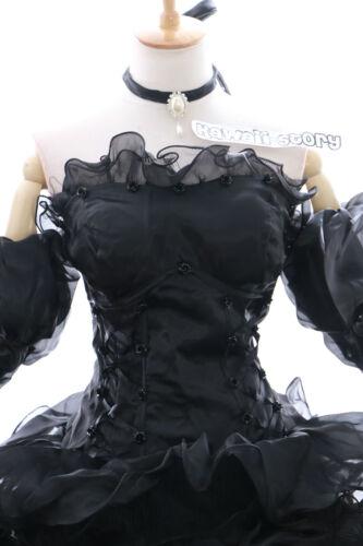 a-010 XL//XXL Braut schwarz Victorian Cosplay Kostüm Gothic Ballkleid ABEND-KLEID