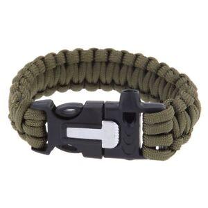 Buitenshuis-Whistle-Survival-Paracord-armband-w-Flint-Fire-Starter-schraper-Kit