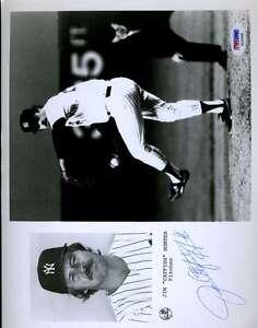 Jim-Catfish-Hunter-Psa-dna-Coa-Hand-Signed-8x10-Photo-Authenticated-Autograph