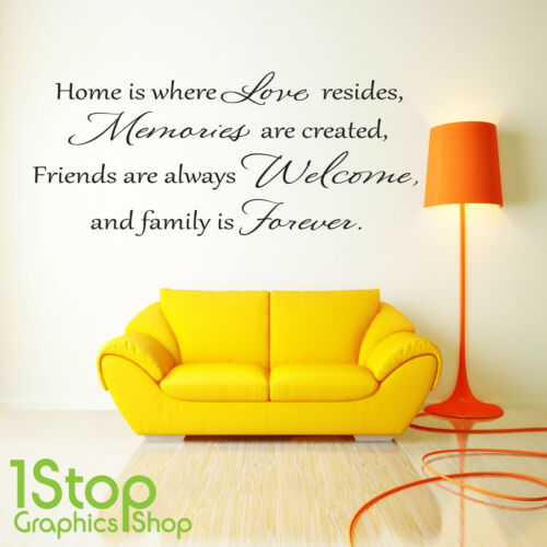 HOME BEDROOM LOUNGE WALL ART DECAL X115 LOVE MEMORIES WALL STICKER QUOTE