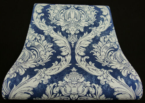 "02549-50-519 6 Rollen Vliestapeten /""Carat/"" Ornament-Design blau hellgrau Glanz"