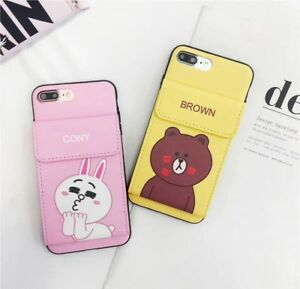 kpop iphone cases for iphone x 8 7 6s plus korean rabbit card slot 12558