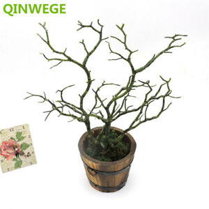 2pc-Manzanita-Artificial-Dry-Plant-Branch-Fake-Foliage-Green-White-Wedding-Decor