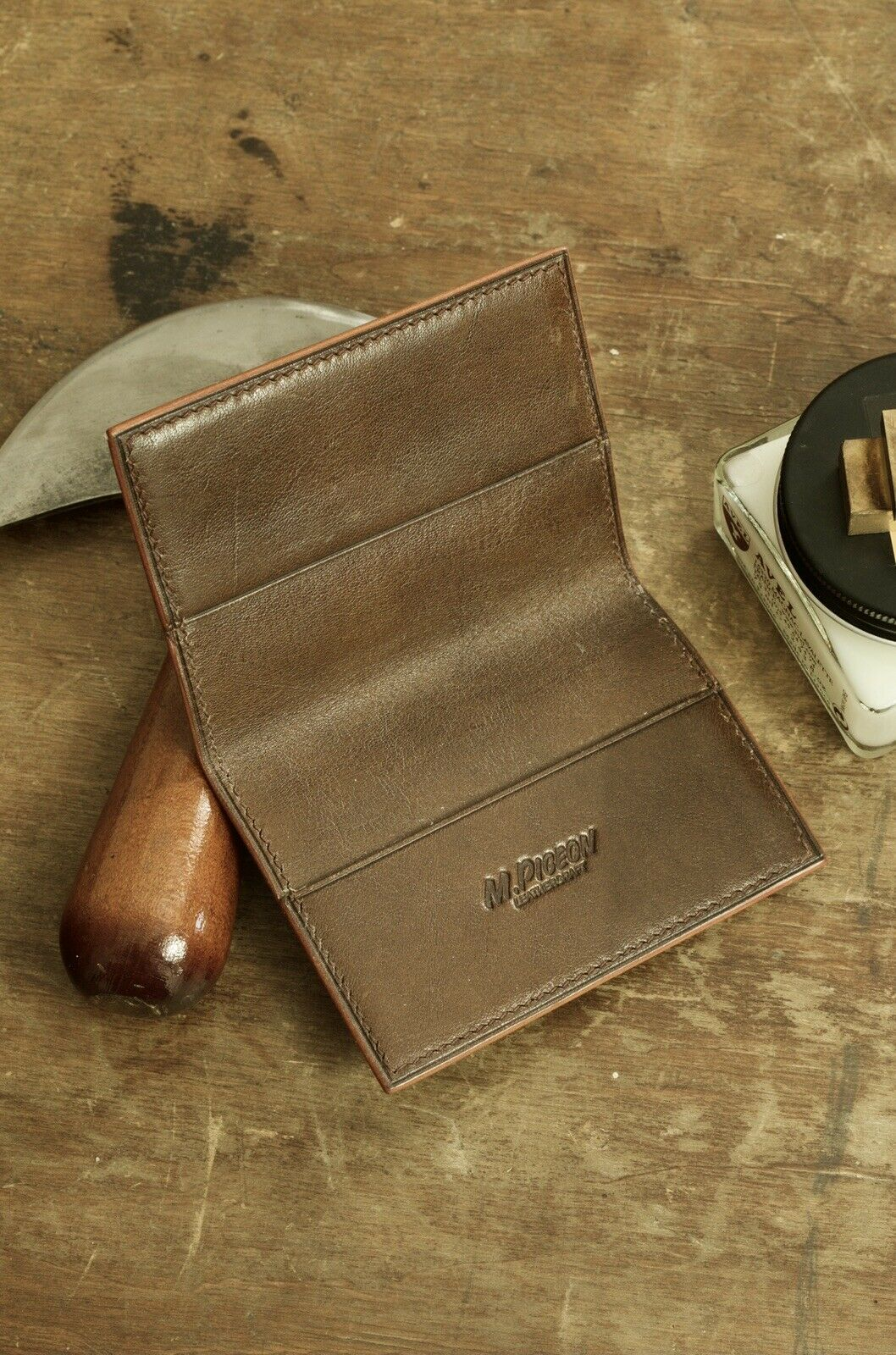 Mpigeon Handmade Leather Card Wallet