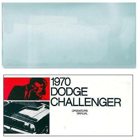 1970 70 DODGE CHALLENGER OWNER/'S MANUAL /& COVER