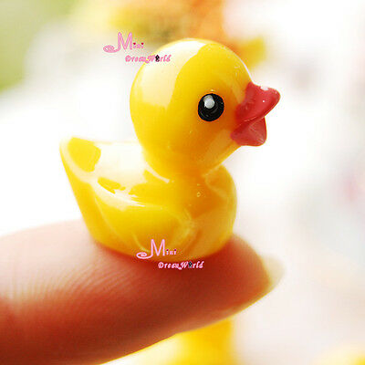 1/12 Dollhouse Miniature lovely Yellow Duck  2pcs