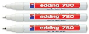 3-x-Edding-780-Paint-Marker-Pen-Extra-Fine-Low-Odour-8-Colours-Available