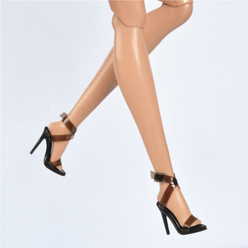 """12/"""" FR2 Fashion Royalty Integrity Doll Brown Clear Sandal Shoes Boot FR6.0 FR3.0"""