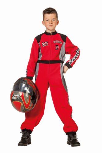 Kinder Kostüm Rennfahrer Overall Karneval Fasching FFF