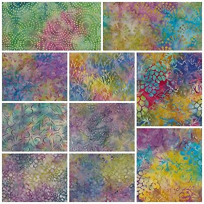 Indonesian Batiks 100/% Cotton Fabric FQ Crafting Quilting Patchwork /'fans/'