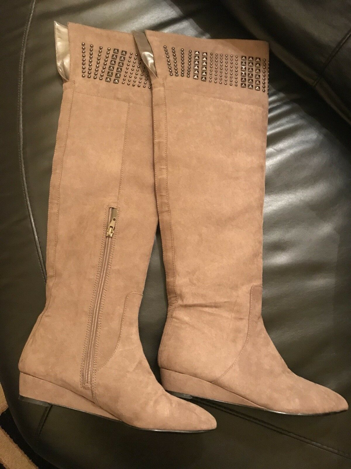 CARLOS Fashion Women's Over The Knee Boots 7,5