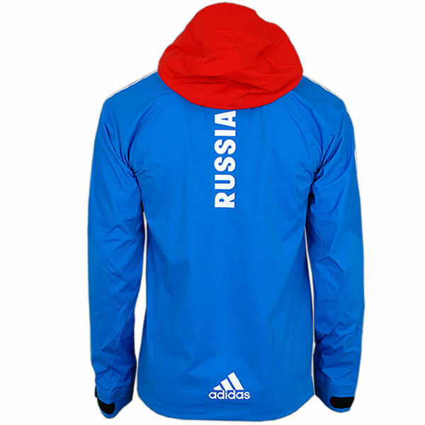 adidas Damen Cross-Country Goretex Rain Jacket Team Russia Olympia Russland