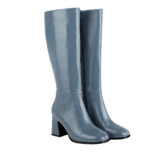 Details about  /5 Colors Women/'s Western Cowboy Square Toe Block Heel Mid Calf Knee High Boots L