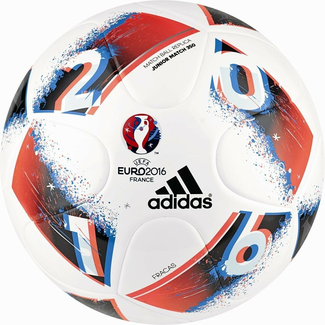 Adidas Beau Jeu Fracas Fracas Fracas Junior 350g Fußball EM 2016 weiß blau Größe 4 + 5 AO4849 40289a