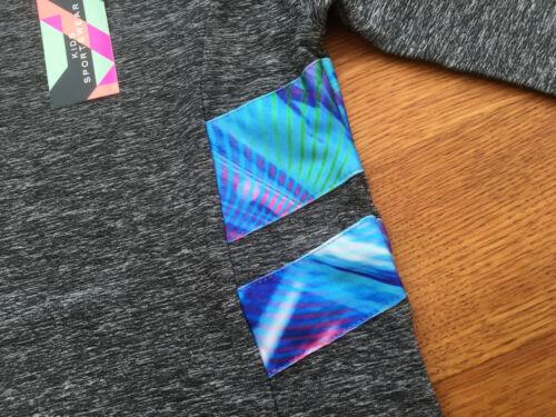 BNWT Next Girls Grey Space Dye Long Sleeved Sport Top