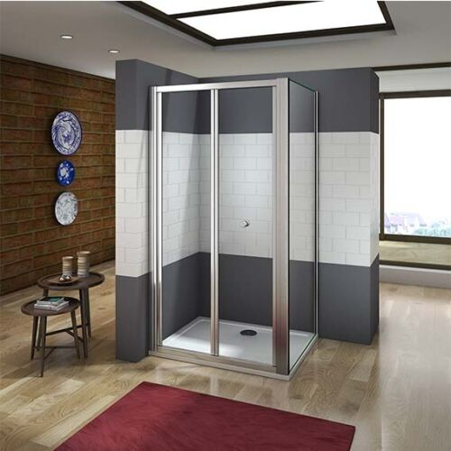 New Aica Bifold Shower Enclosure Walk In 5mm Safety Glass Door Panel Cubicle