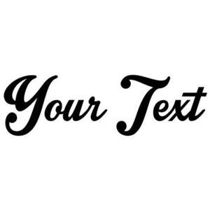2PCS-Votre-Texte-Autocollant-Vinyle-Autocollant-Voiture-Pare-chocs-Custom-8-034-Personnalise
