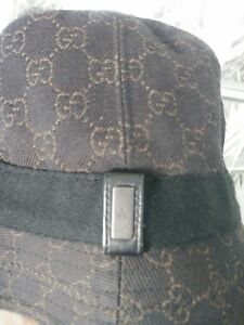 ea68979ed Details about Authentic Women's Black Gucci Bucket Hat size small