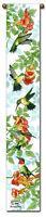 Hummingbird Peach Tapestry Bell Pull