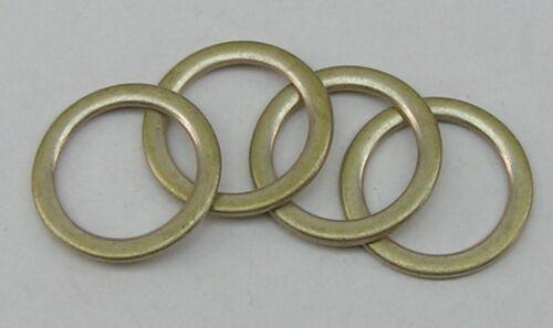 nuevo!! 8 anillos de 19mm plata//latón inoxidable!! 04.72sm