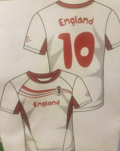 2014 FIFA World Cup Mens T Shirt England S M L XL XXL 100/% Official