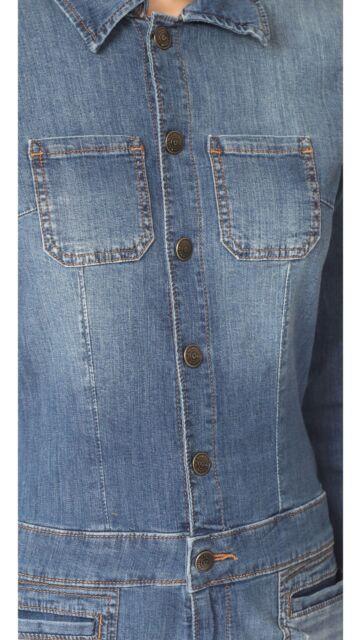 1669d1d0f5f8 True Religion SzM Long Sleeve Stretch Jumpsuit Army Brat Blue for sale  online