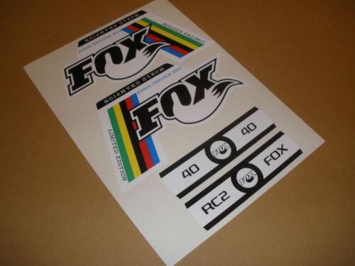 Fox World Champion Fork Decals stickers 32 RLC 36 TALAS 36 FLOAT 40 RC2 forx