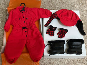 American-Girl-Dogsled-Outfit-Red-Snowsuit-Retired-New-Pleasant-Company-1997