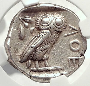 ATHENS-Greece-440BC-Ancient-Silver-Greek-TETRADRACHM-Coin-Athena-Owl-NGC-i73342