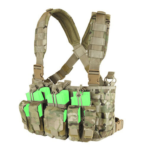 Condor Recon Chest Rig w// Mag /& Utility Pouches for MILSIM Airsoft Police MCR5