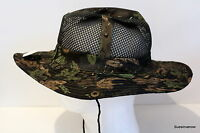 Camouflage Military Wide Brim w Snap Bucket Camping Hunting Boonie Hat Hunt fish