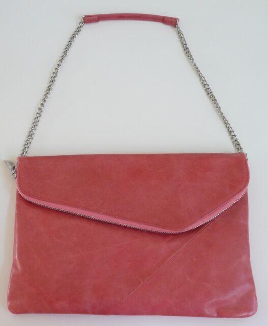 ae077bd334a Hobo International Jessa Shoulder Bag Clutch Rosewood Leather   eBay