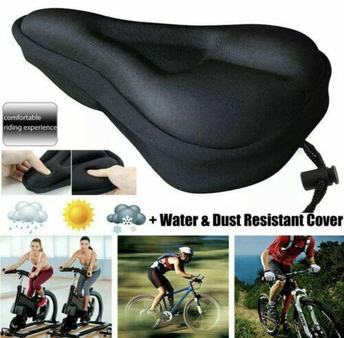 Cushioned Road Bike Seat Cover Soft Padded Gel Bicycle Cycle Saddle Cushion UK