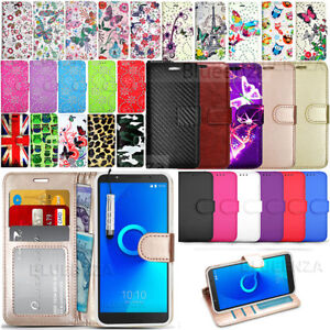 check out 2b6db aa87a Details about Case For Alcatel 1C 5009A 5009D - Wallet Leather Case Flip  Cover + Screen Guard