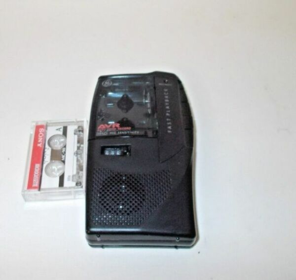 GE 35377 Handheld Cassette Voice Recorder for sale online