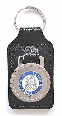Cordiale Grant Scottish Clan Black Leather & Enamel Key Fob Paghi Uno Prendi Due