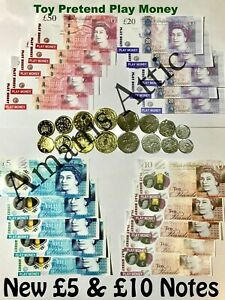 Kids-Child-Play-Fake-Pretend-Toy-Money-Role-Shop-Cash-Pound-Notes-Coins-Party
