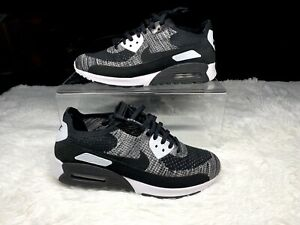 Nike-Air-Max-90-Ultra-2-0-Flyknit-Black-White-95-Oreo-97-Womens-10-Mens-8-5