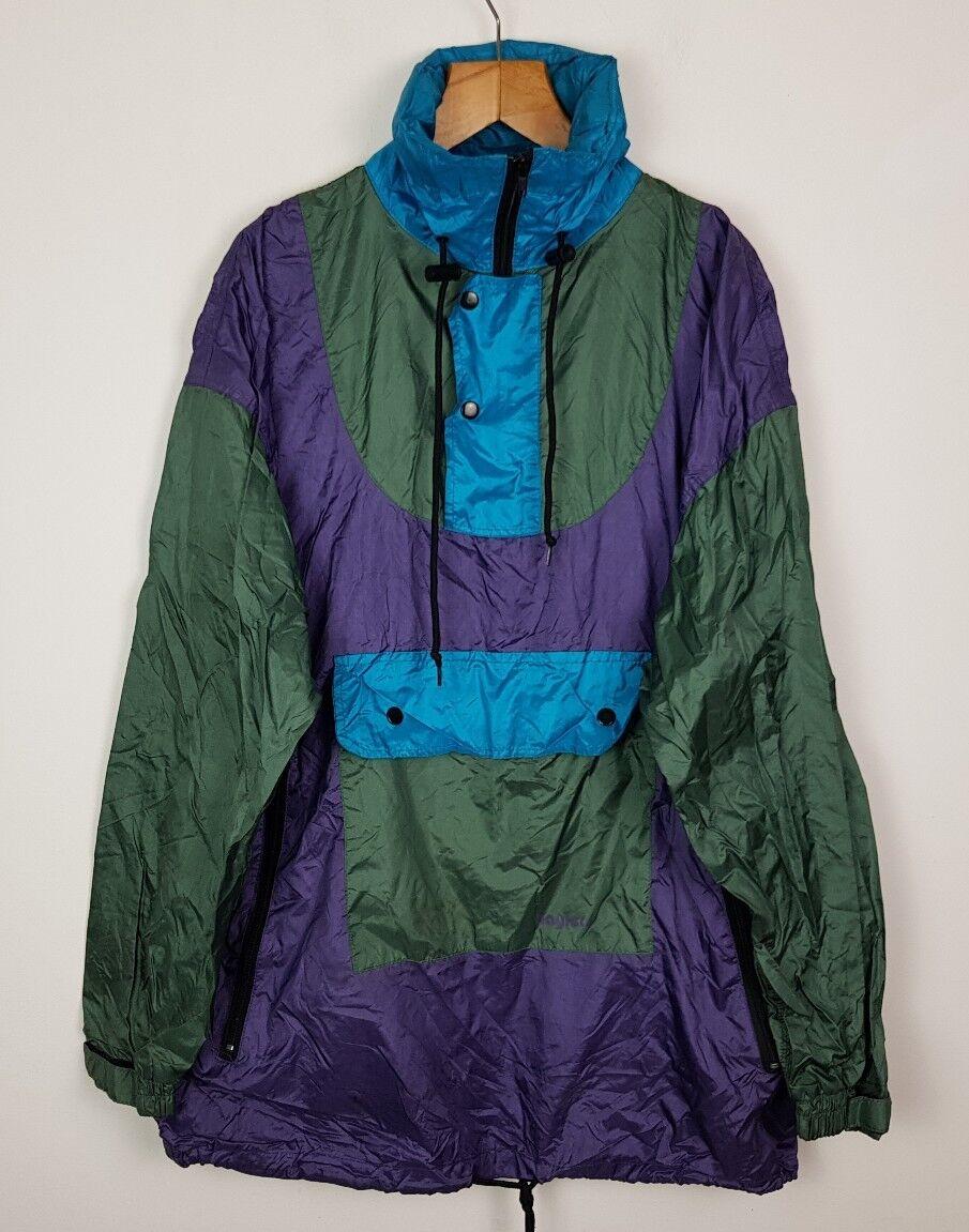 Rétro Bright Vintage 80 S Bright Rétro Bold Crazy Windbreaker Festival Sports Coat 1557c0