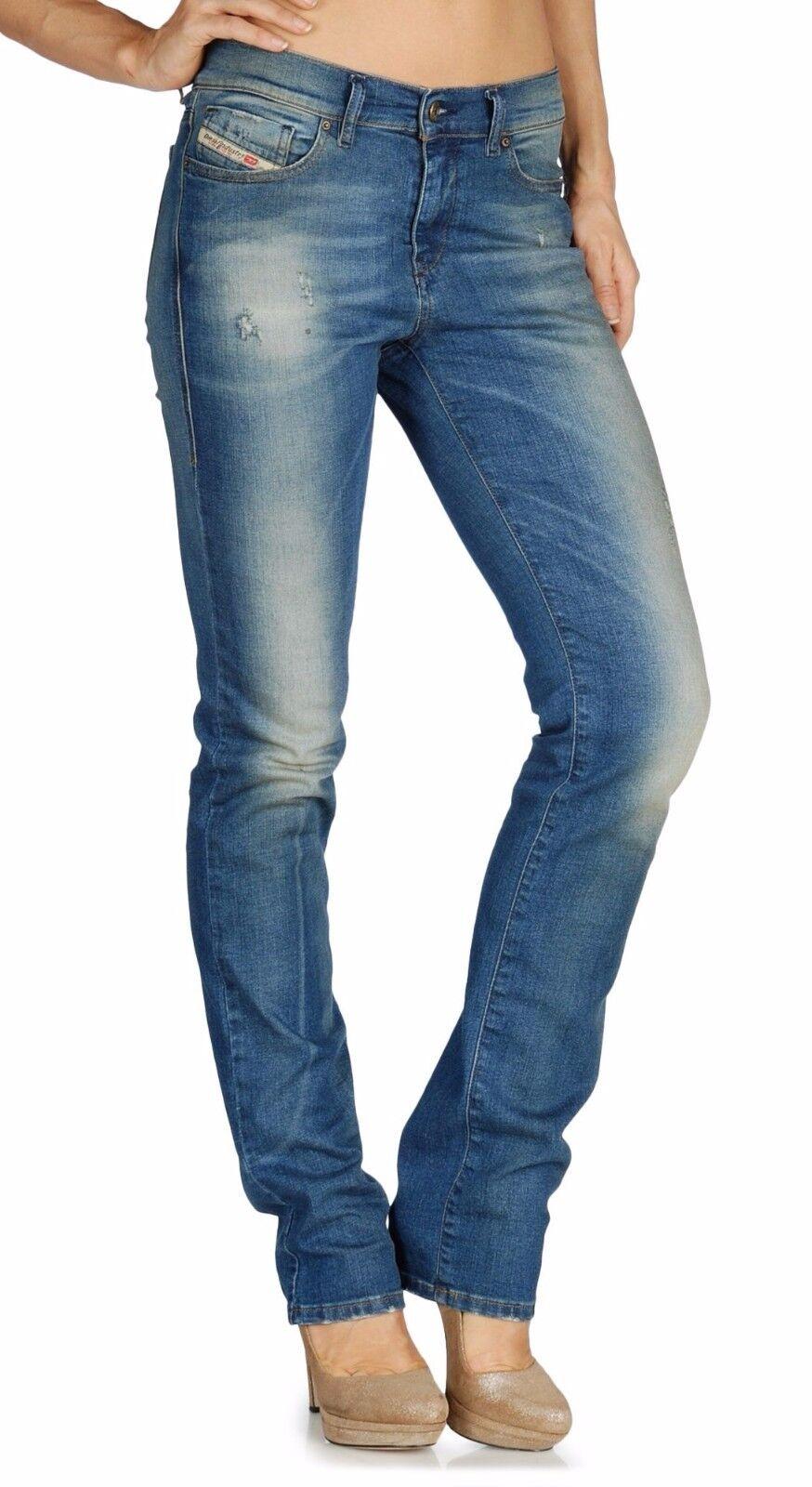 Diesel STRAITZEE Regular Waist Slim Straight Fit Jeans 0806I Medium 25x32  268
